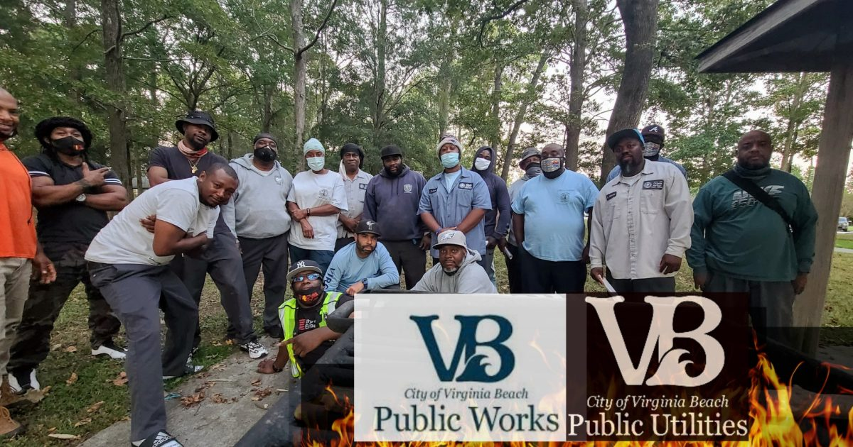 City workers from Public Works and Public Utilities